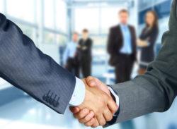b2b marketing two men shaking hands