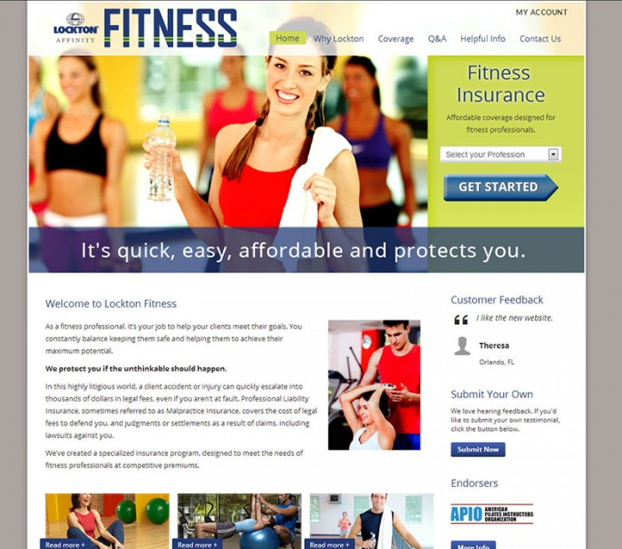 lockton fitness personal training insurance page