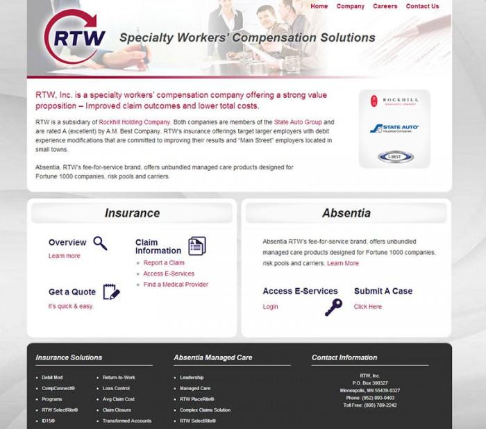 RTW worker's compensation solutions website