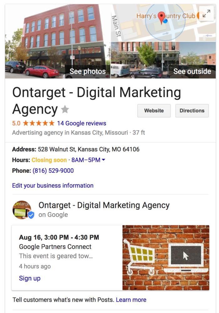 kansas city digital marketing gmb listing